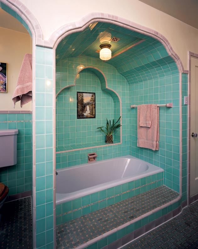 Colorful Old House Bathrooms