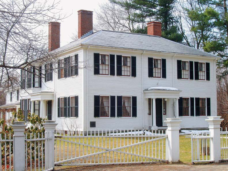 The 1828 Federal Emerson House is still owned by descendants of the author.