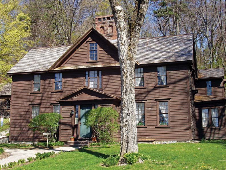 Orchard House is where Louisa May Alcott wrote Little Women, and today is a museum devoted to the Alcott family.