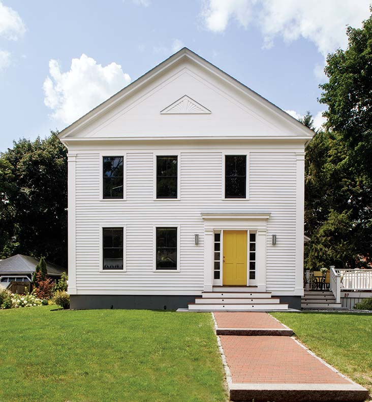 Architect John Day worked with Connor Homes to design the perfect pared-down Greek Revival for his young family.