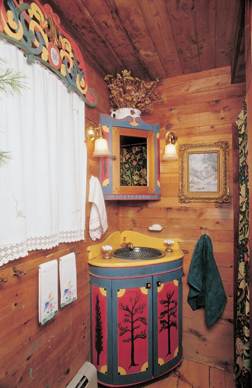 Swedish cottage bathroom