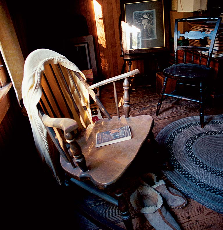 The garret of the Crabtree House still contains Lemma's favorite chairs, books, and clothing.