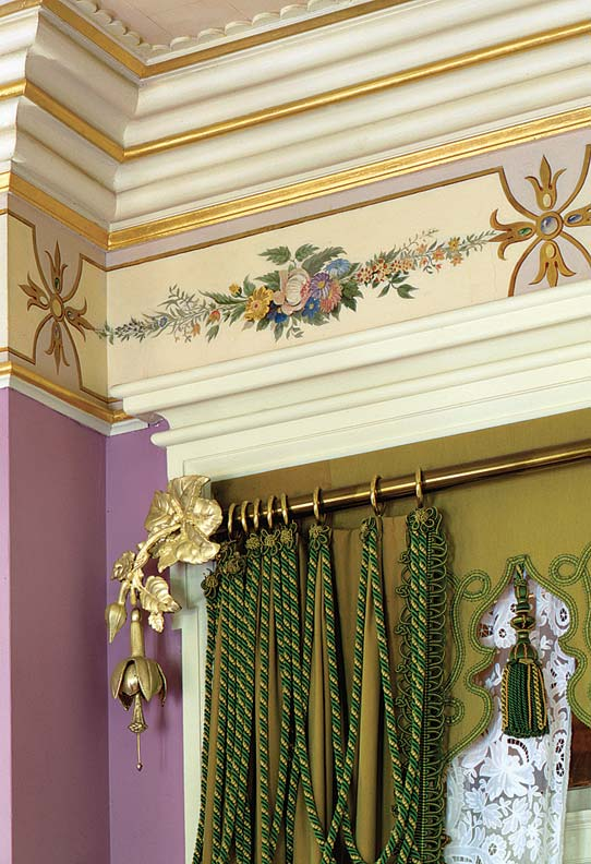As window treatments simplified, finials became fancier.