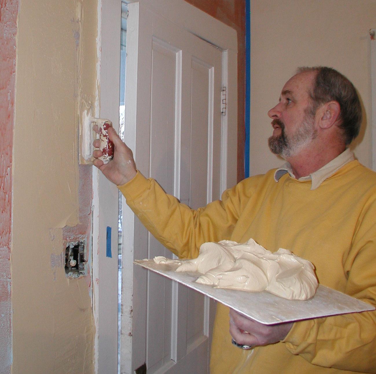 D, repairing plaster wall