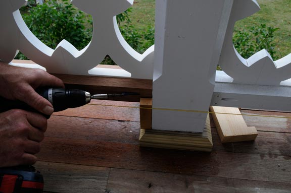 Attaching the balustrade