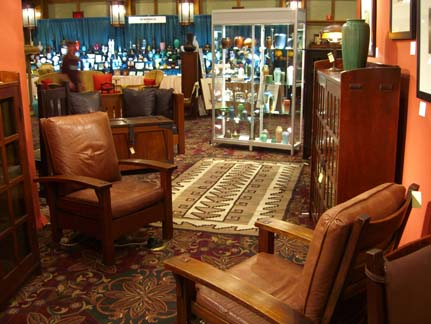 Antiques shows like the one at the Grove Park Inn Arts & Crafts Conference give aficionados the chance to expand their collections.