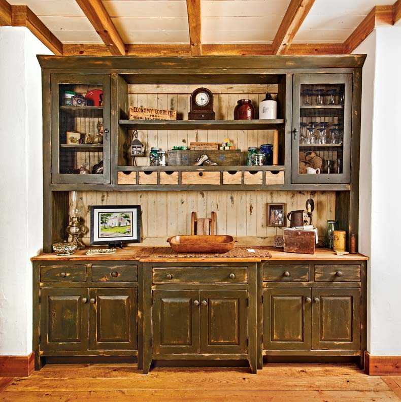 David built a large hutch for general storage.