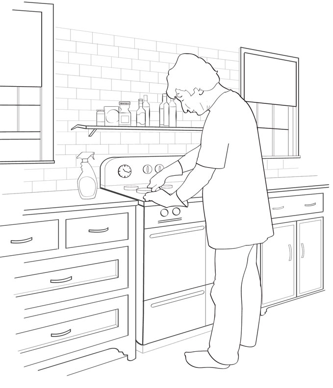 How to deep clean your stove