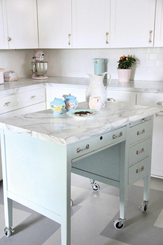 Turn A Desk Into A Kitchen Island Old House Restoration