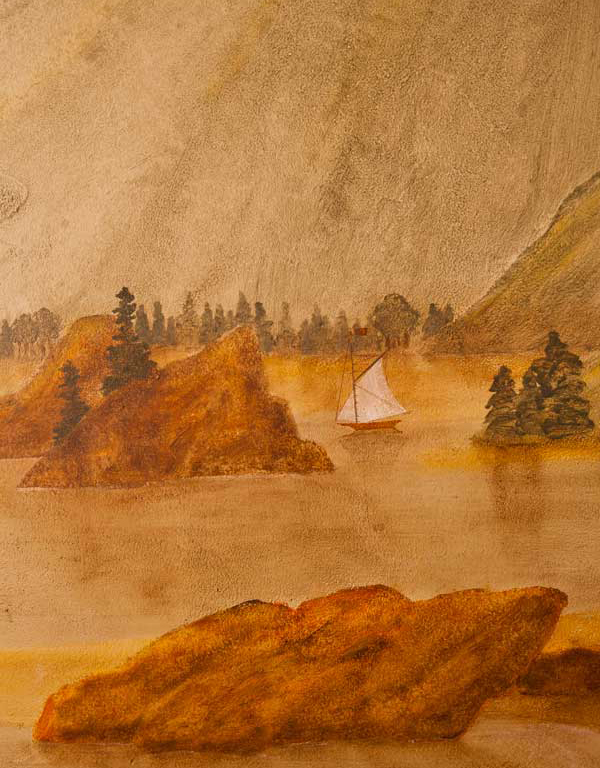 Detail of a mural by Hope Angier.