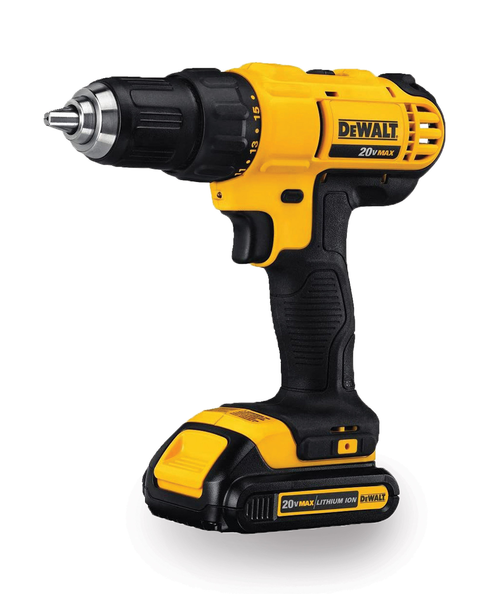 Remove and reinstall hinges, mount light fixtures, assemble furniture, and more with the 20V MAX cordless drill. Offering solid battery life and quick recharges, it operates at speeds up to 1,500 rpm and comes with a built-in task light. With a driver, charging base, and soft-sided carry bag. DeWalt, (800) 433-9258, dewalt.com