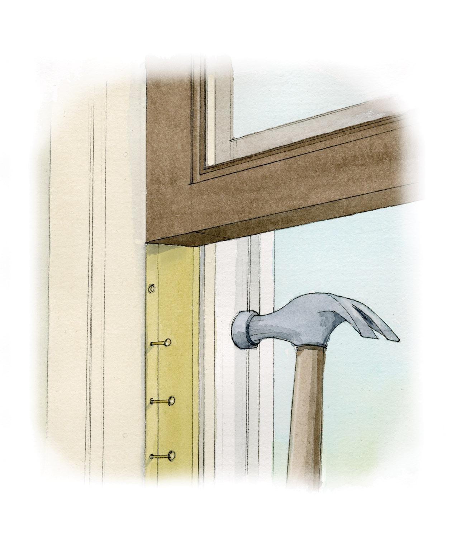 installing weatherstripping window