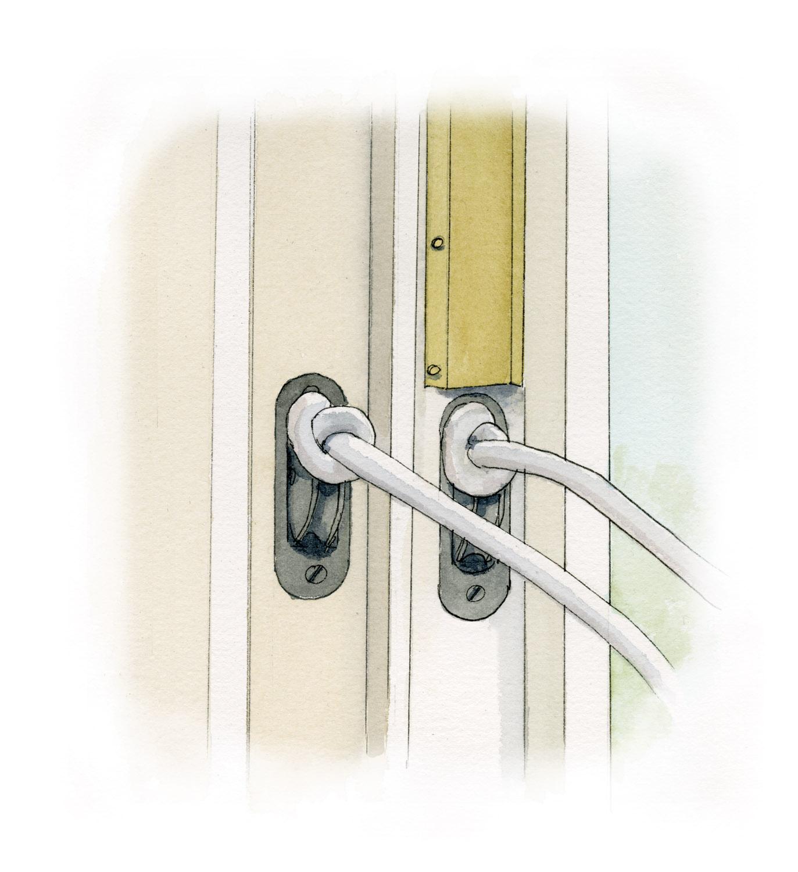 metal strip, door jamb