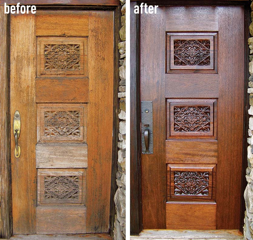 Restoring an entry door