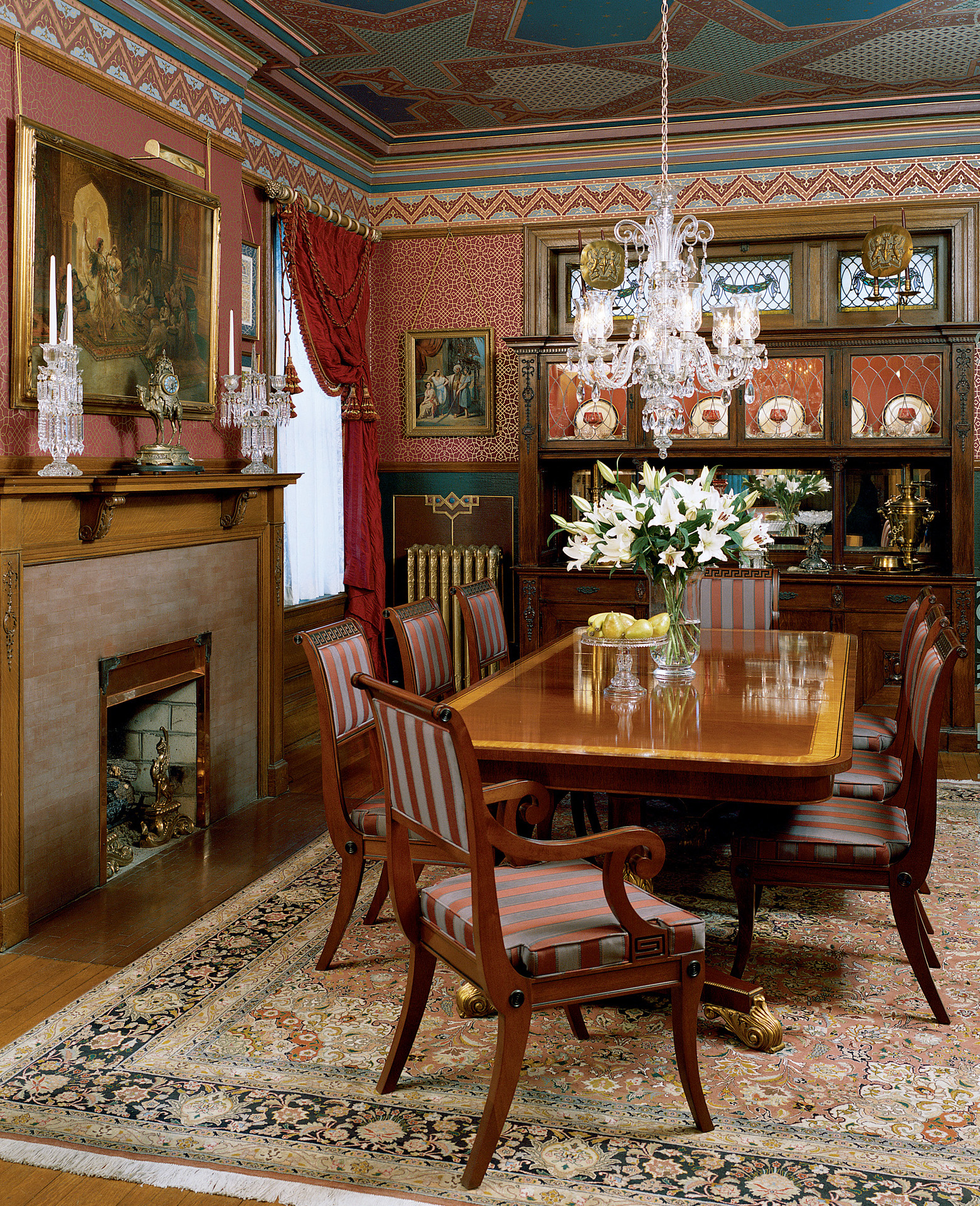 victorian revival dining room