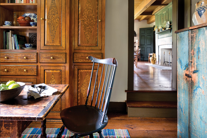 Dutch tiles, old home dining room