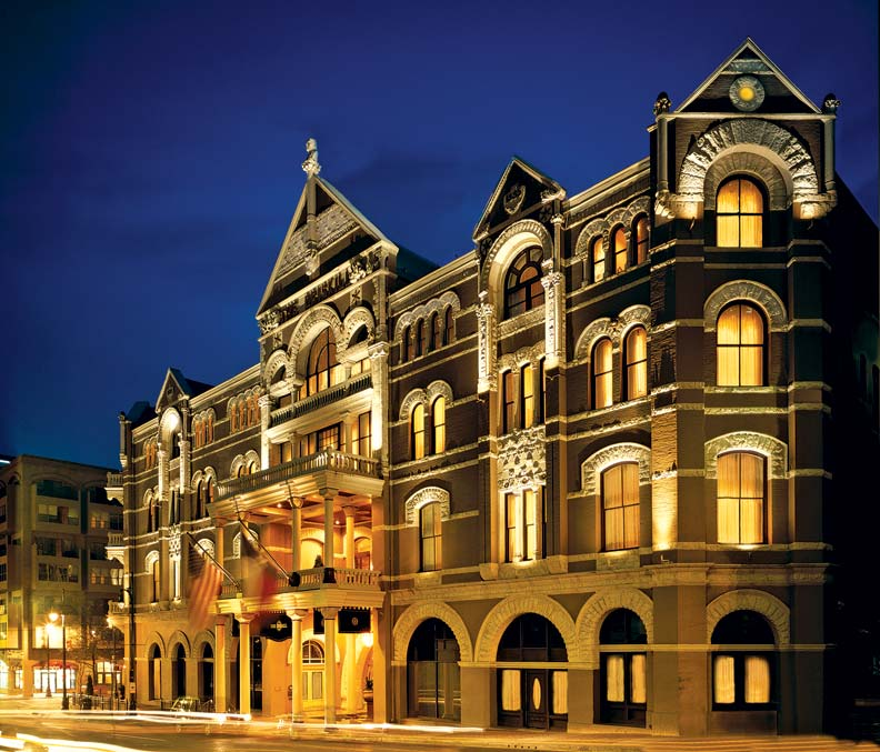 Despite many changes of hands over the years, the façade of the Driskill Hotel still looks remarkably like it did in 1885.