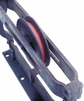 Sheave of Lane pocket door hanger