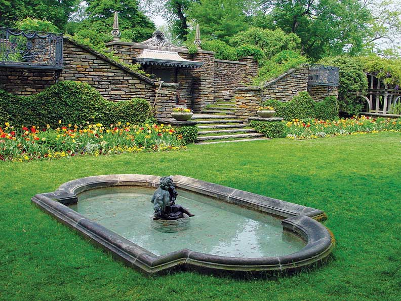 Beatrix Farrand designed the original gardens at Dumbarton Oaks.
