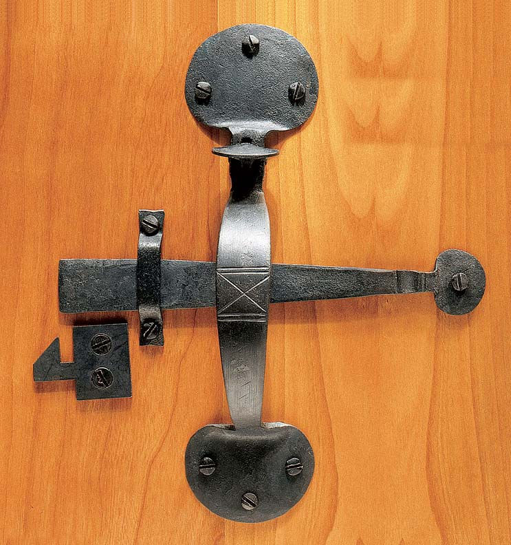 A Suffolk latch, closely modeled on 250-year-old originals, from Horton Brasses.