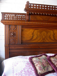 gothic bed, gothic headboard