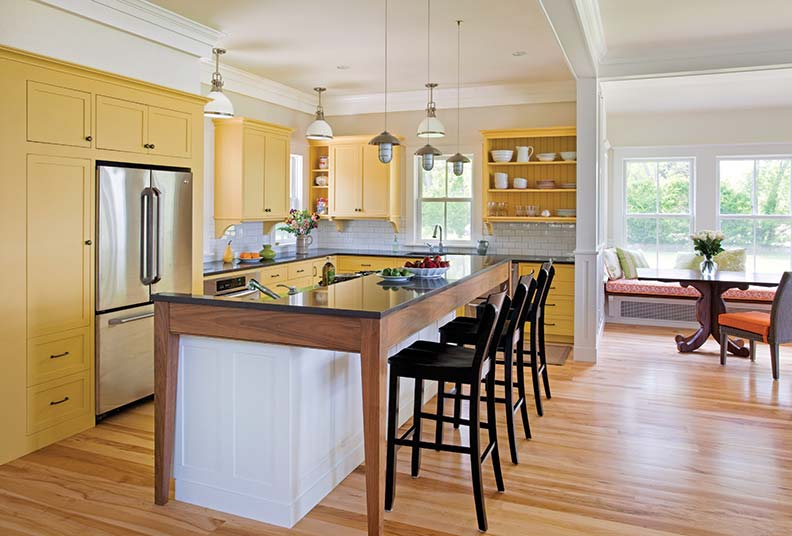 Designing a kitchen with plenty of natural light can help cut down on the amount of electricity used.