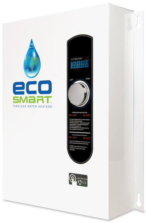 EcoSmart 27 kW tankless electric water heater.