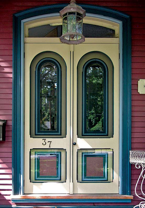 Storms can provide an energy buffer for doors with ample glass.