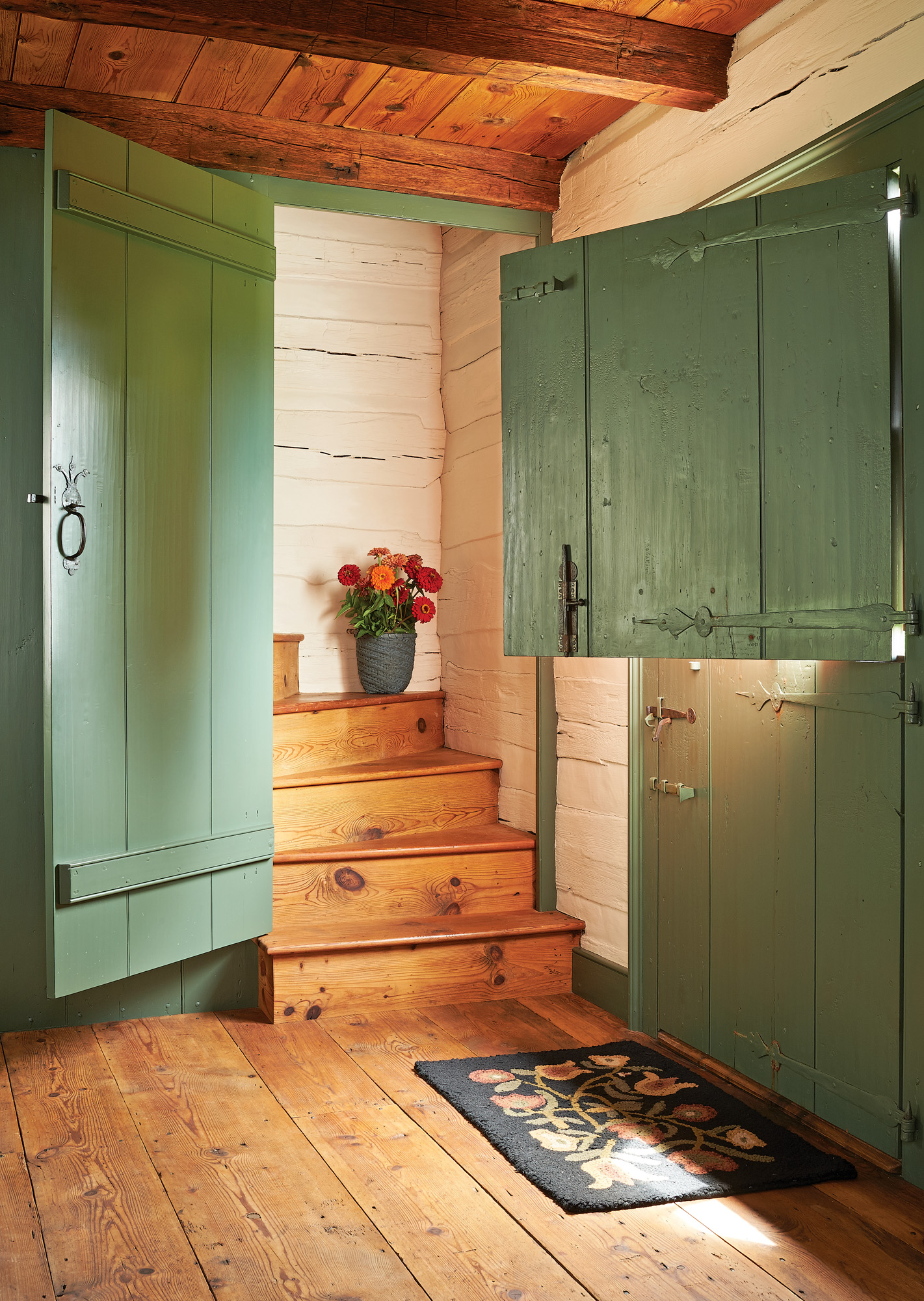 A Stove Room Log House