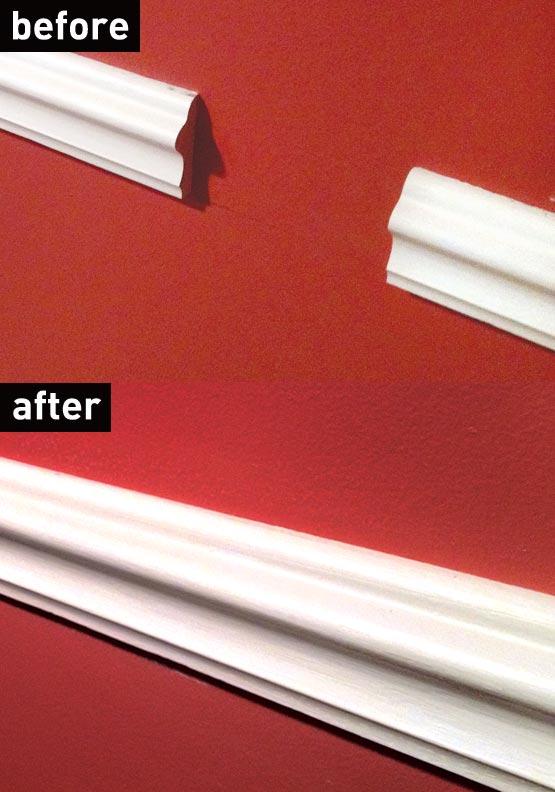 Custom molding repair using epoxy