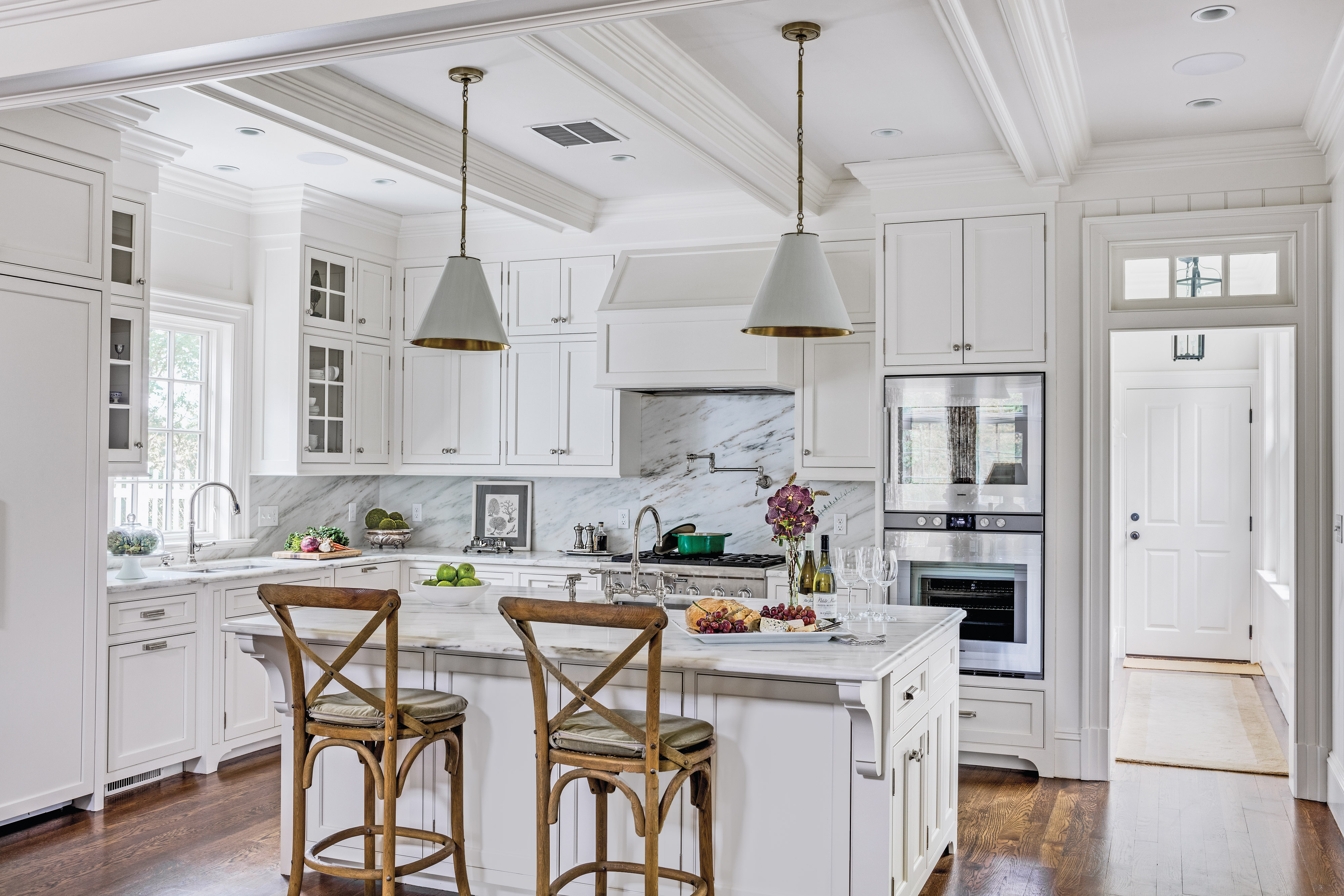 Cabinets were designed to mimic those in turn-of-the-century butler's pantries.