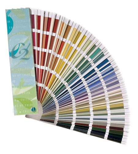 Even on the same paint-color strip, shades and tints of a hue produce very different colors.