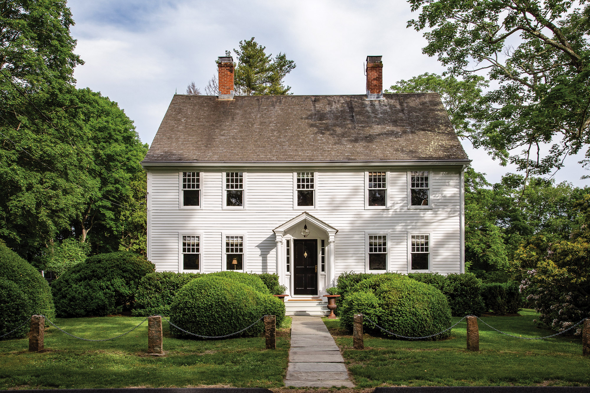 The Colonial-era house is remarkably well preserved.