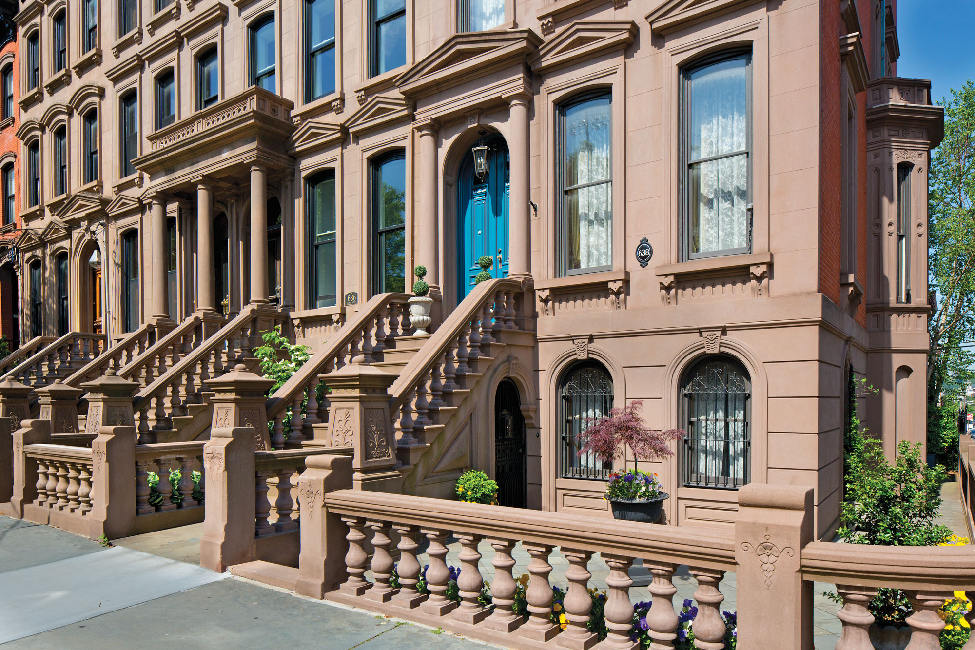 Brownstone balustrades