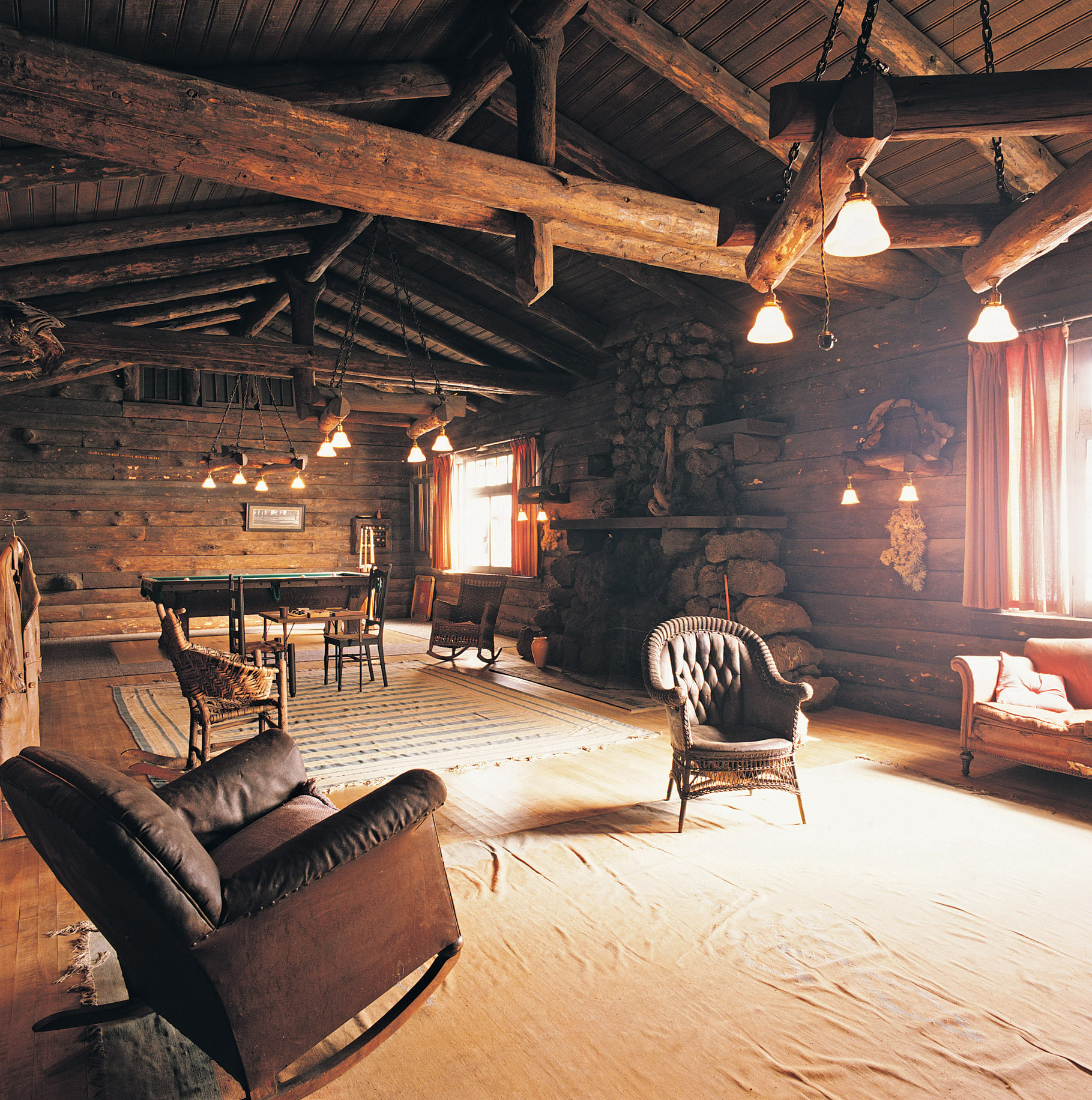 rustic wood interior