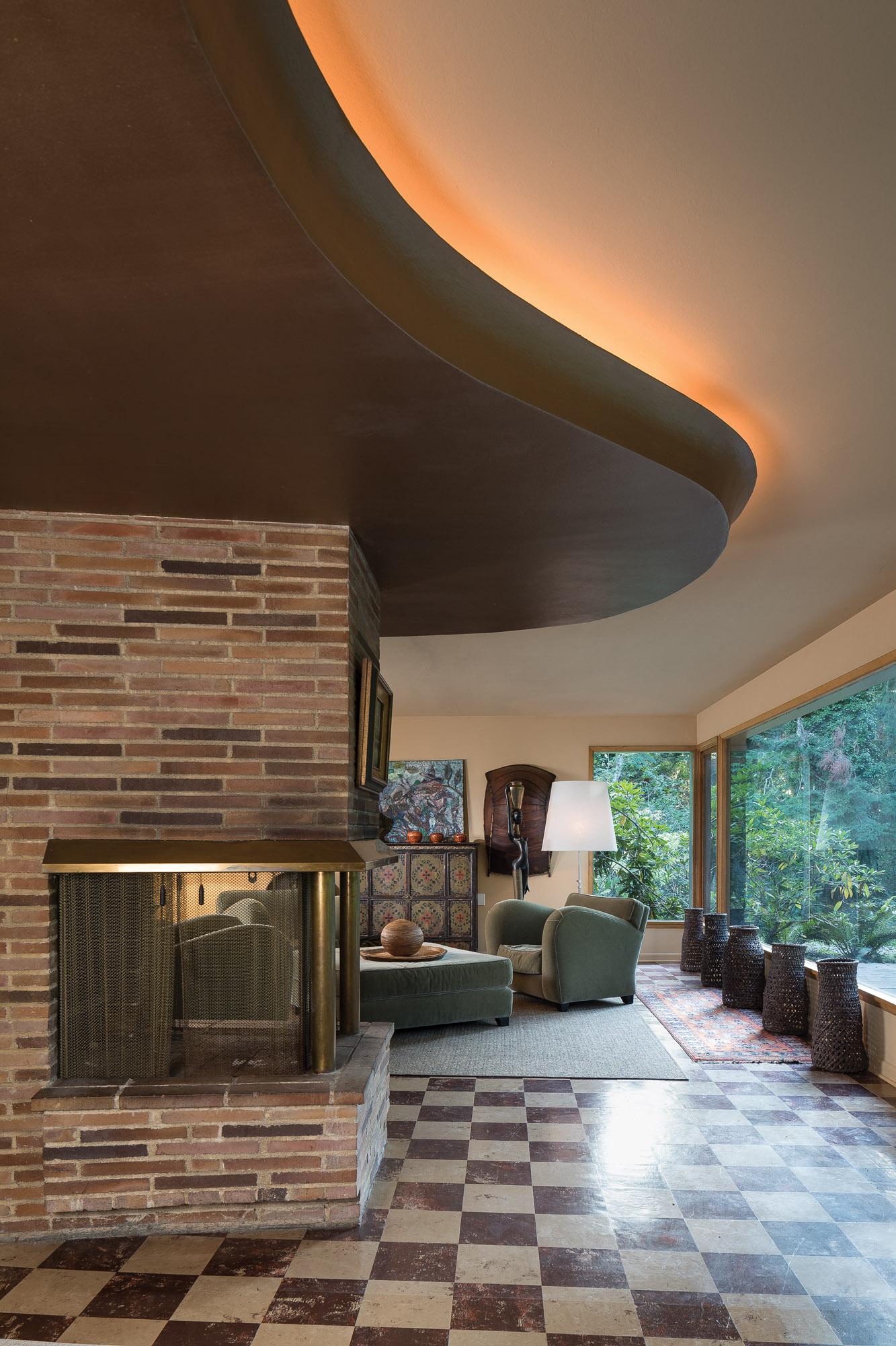 modern home family room