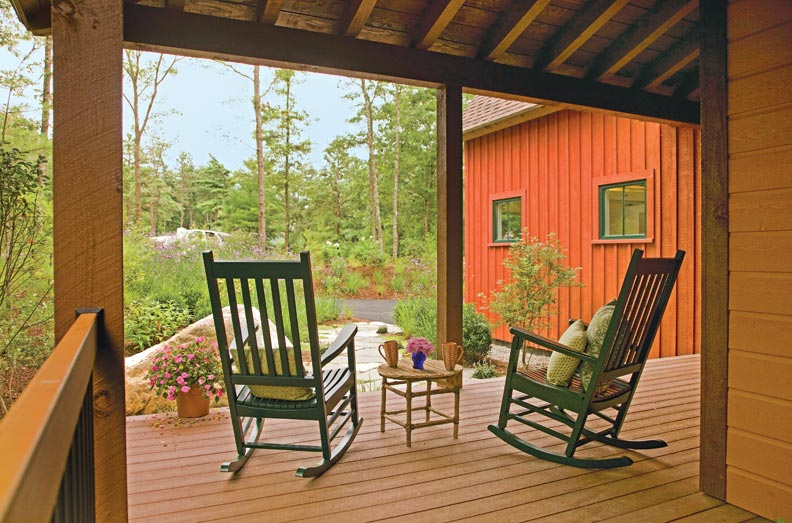 Time-tested materials make for classic porches.