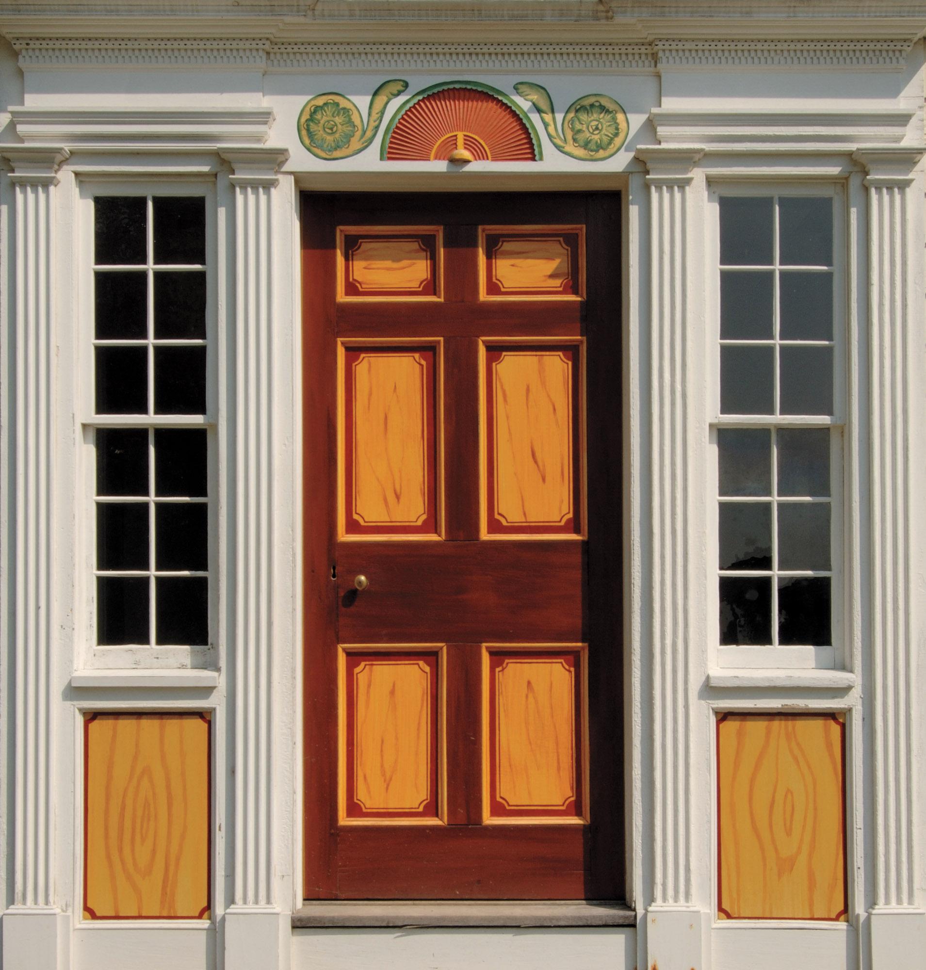Federal door, faux graining