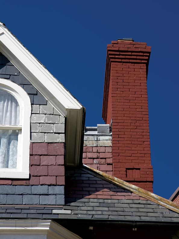 Inspecting chimneys for damage—and keeping them clean—helps prevent fires.