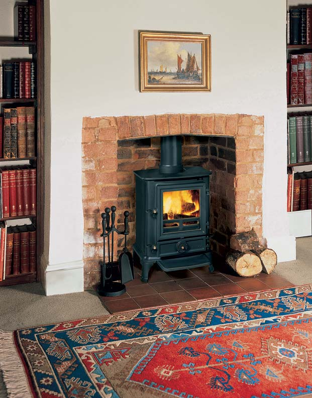 The Brunel 1A wood stove from Stovax is a Franklin stove lookalike.