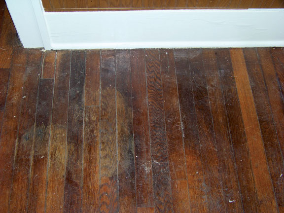 Old floor before recoating