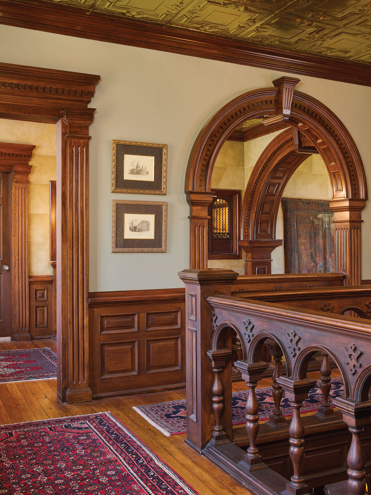 Jacobean oak staircase, Forest Oaks
