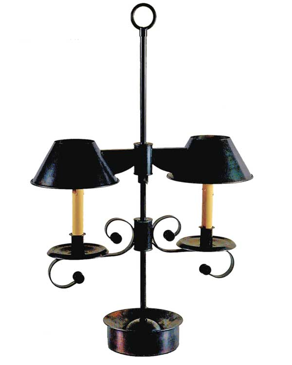Formal desk lamp, wired, Hurley Patentee