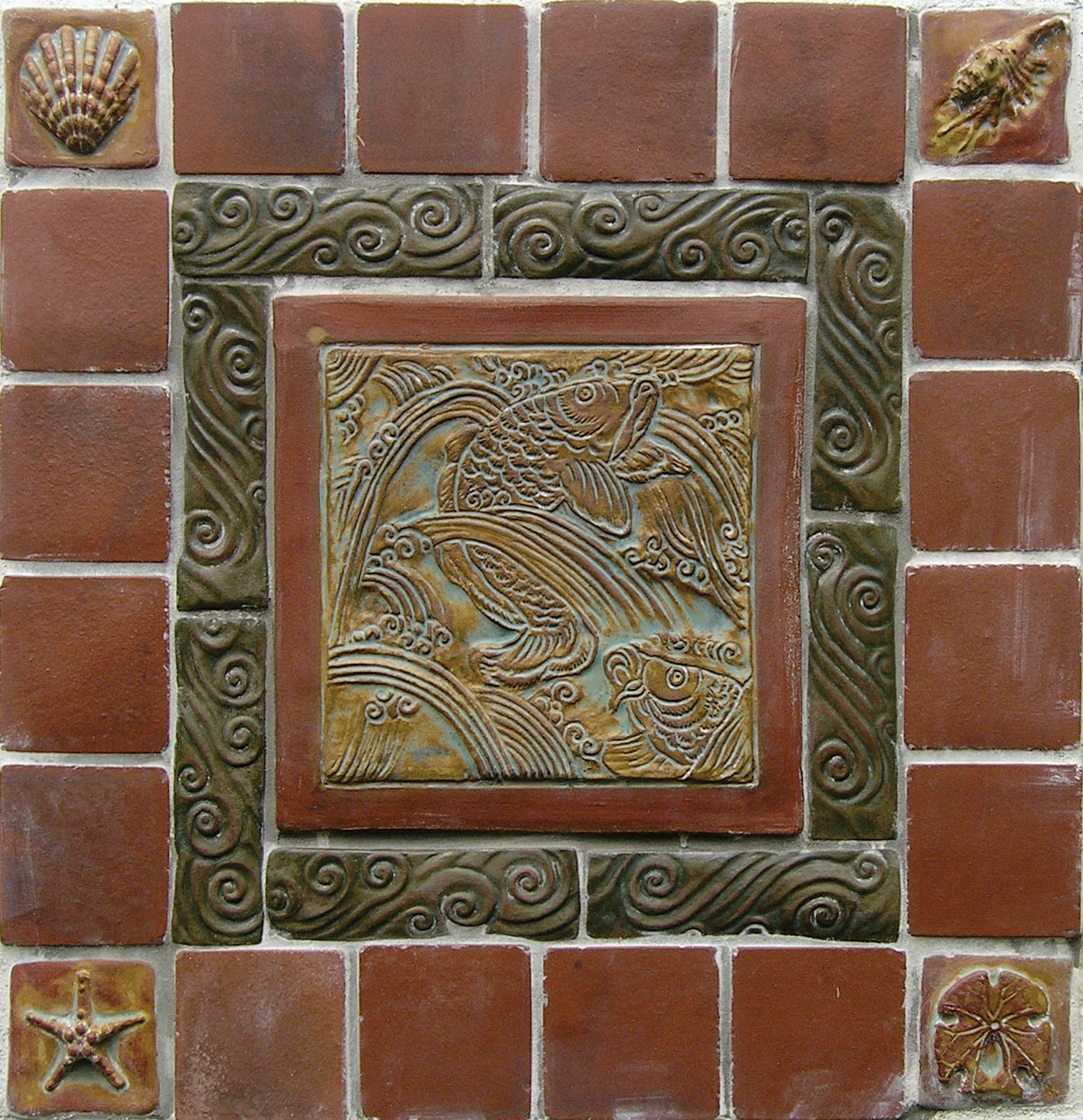 field tiles and multiple relief decos