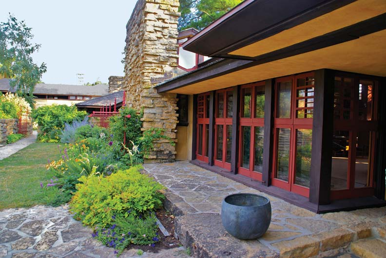 courtyard at Taliesin, Frank Lloyd Wright house