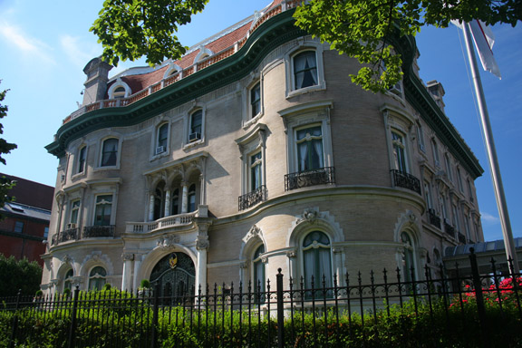 For many years the embassy of Indonesia, this 1903 French-inspired mansion was built for Thomas Walsh, who made his fortune in gold mining.