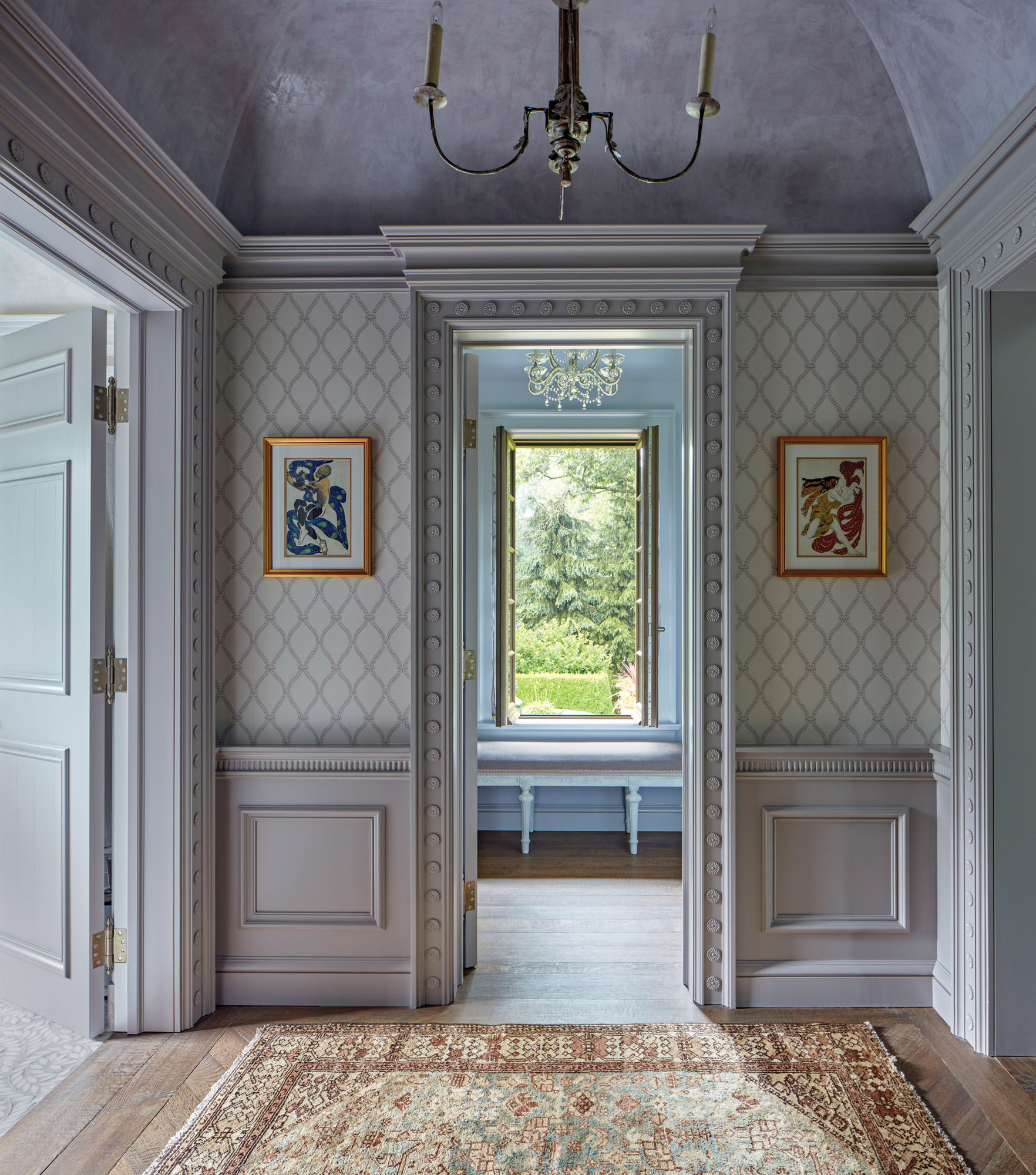plaster ceiling, French Normandy home