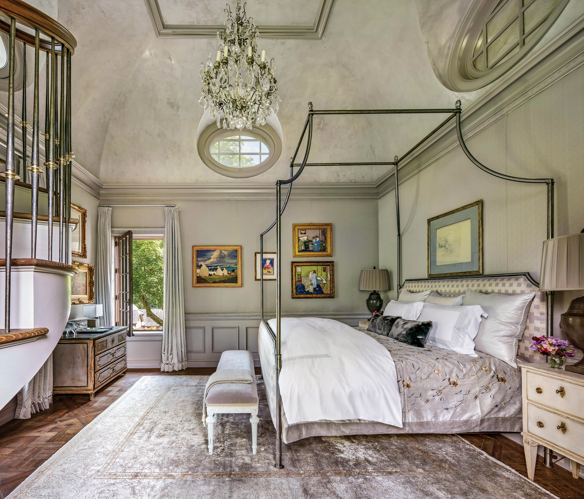 French detailed bedroom