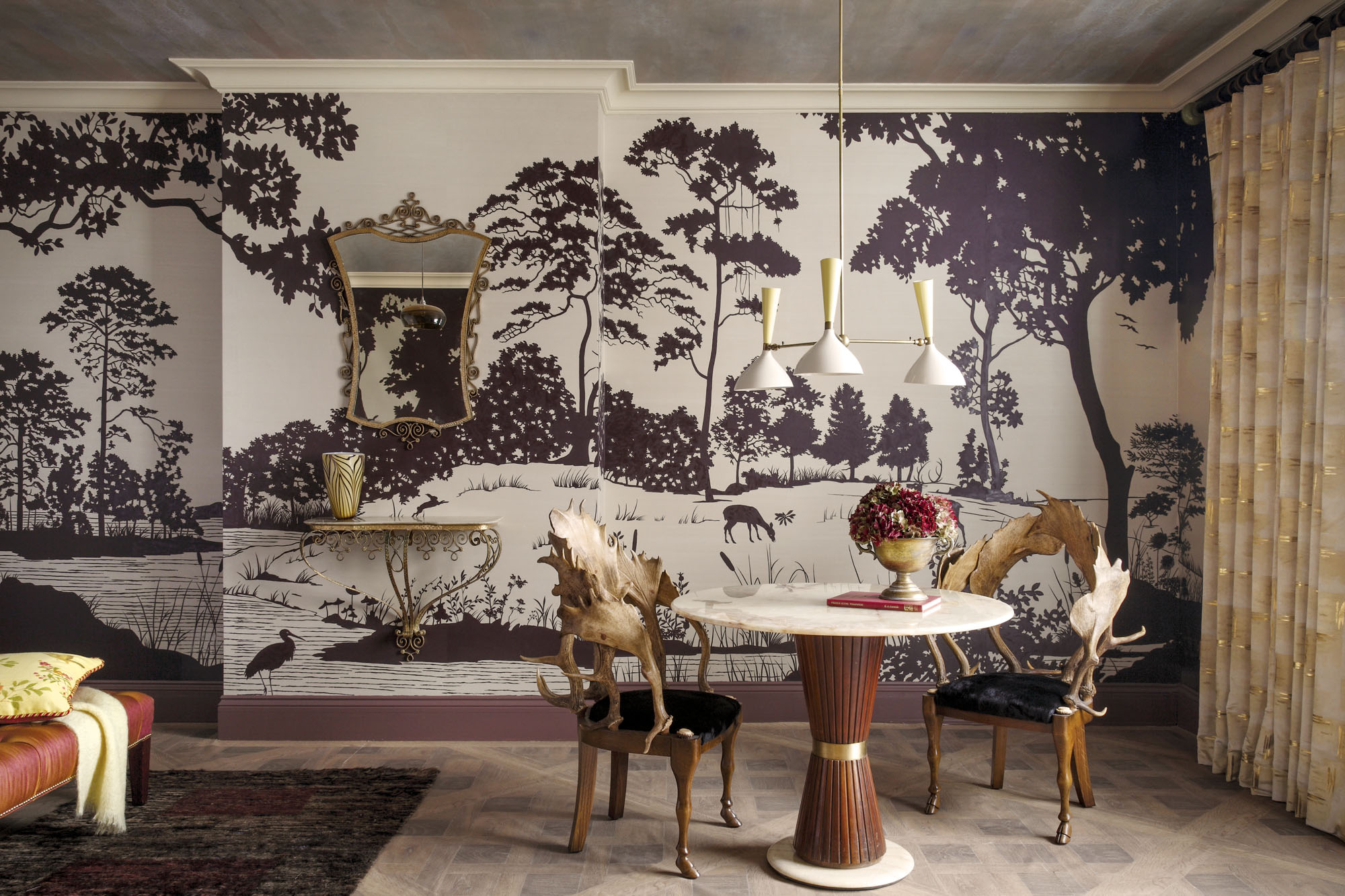 Fromental's panorama on silk