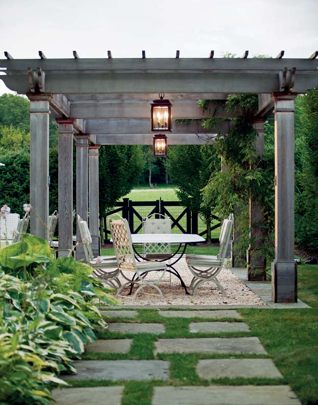 Landscape designer Janice Parker added a pergola for structure.